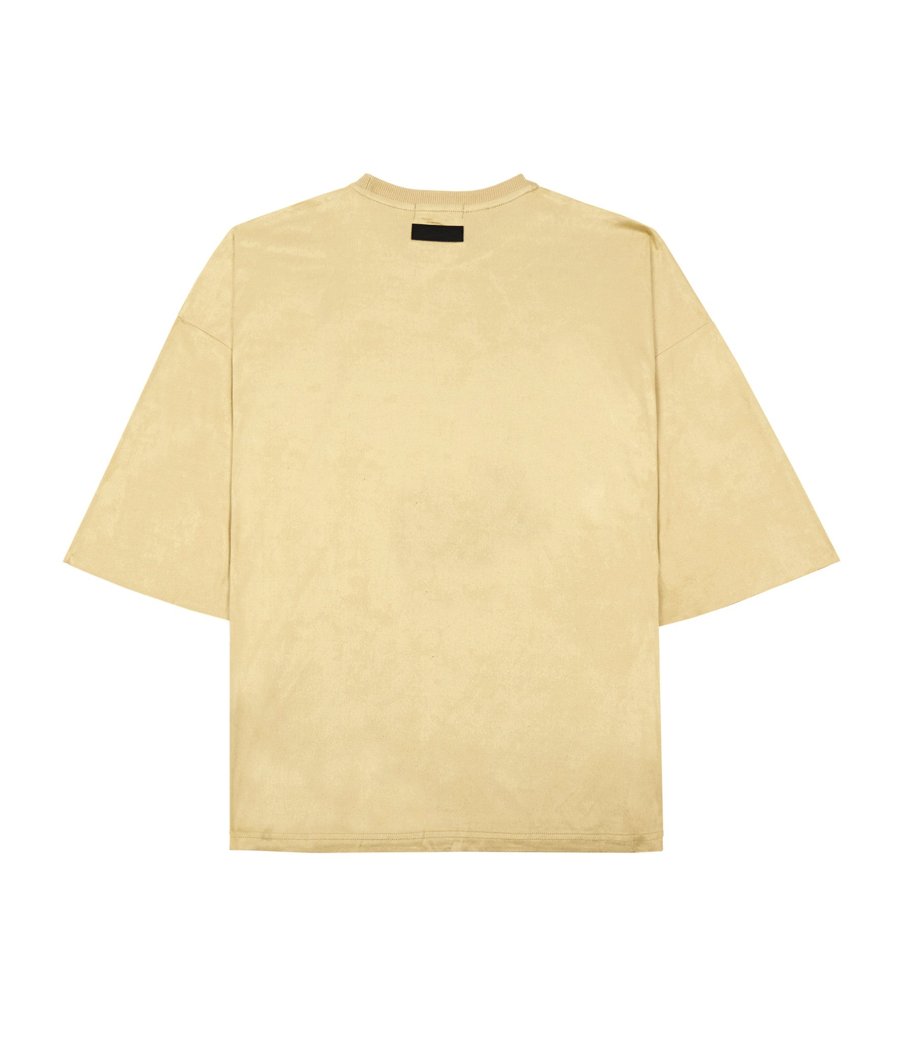 TS302 Suede Oversized Box Tee - Beige - underated london - underatedco - 3