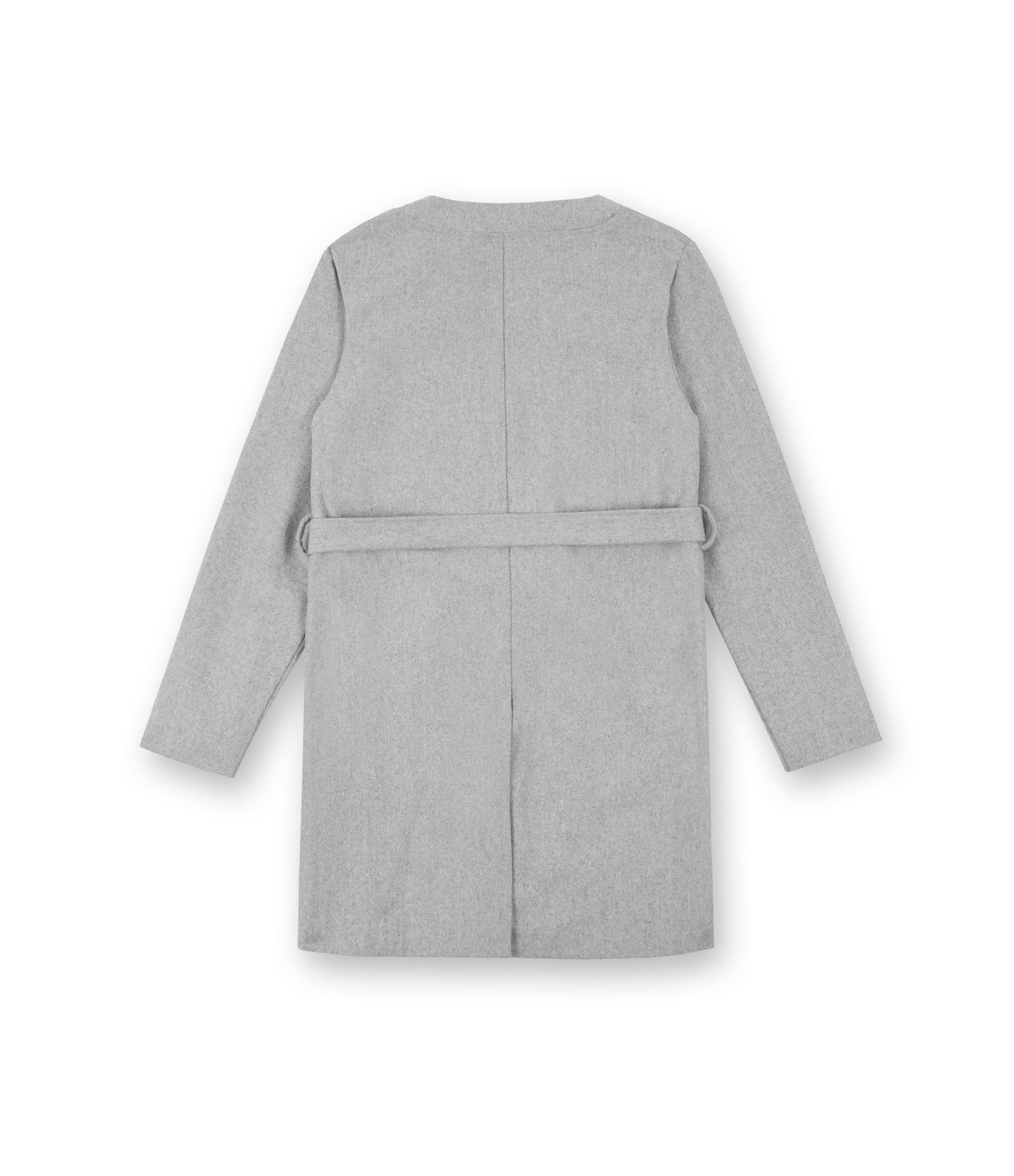 KM070 Wool Blend Kimono Coat - Grey - underated london - underatedco - 2