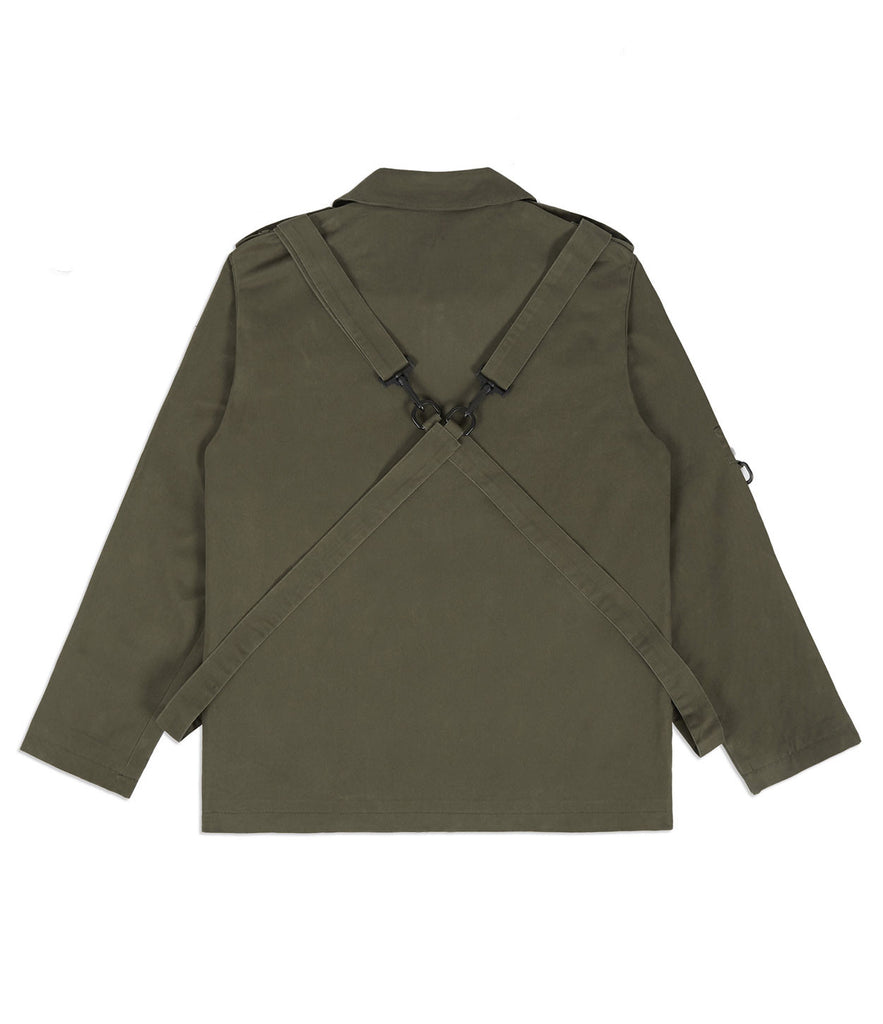 JK356 Utility Strap Jacket - Khaki - underated london - underatedco - 7