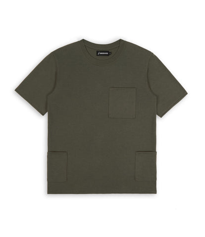 TS346 Side Pocket Tee - Khaki - underated london - underatedco - 1