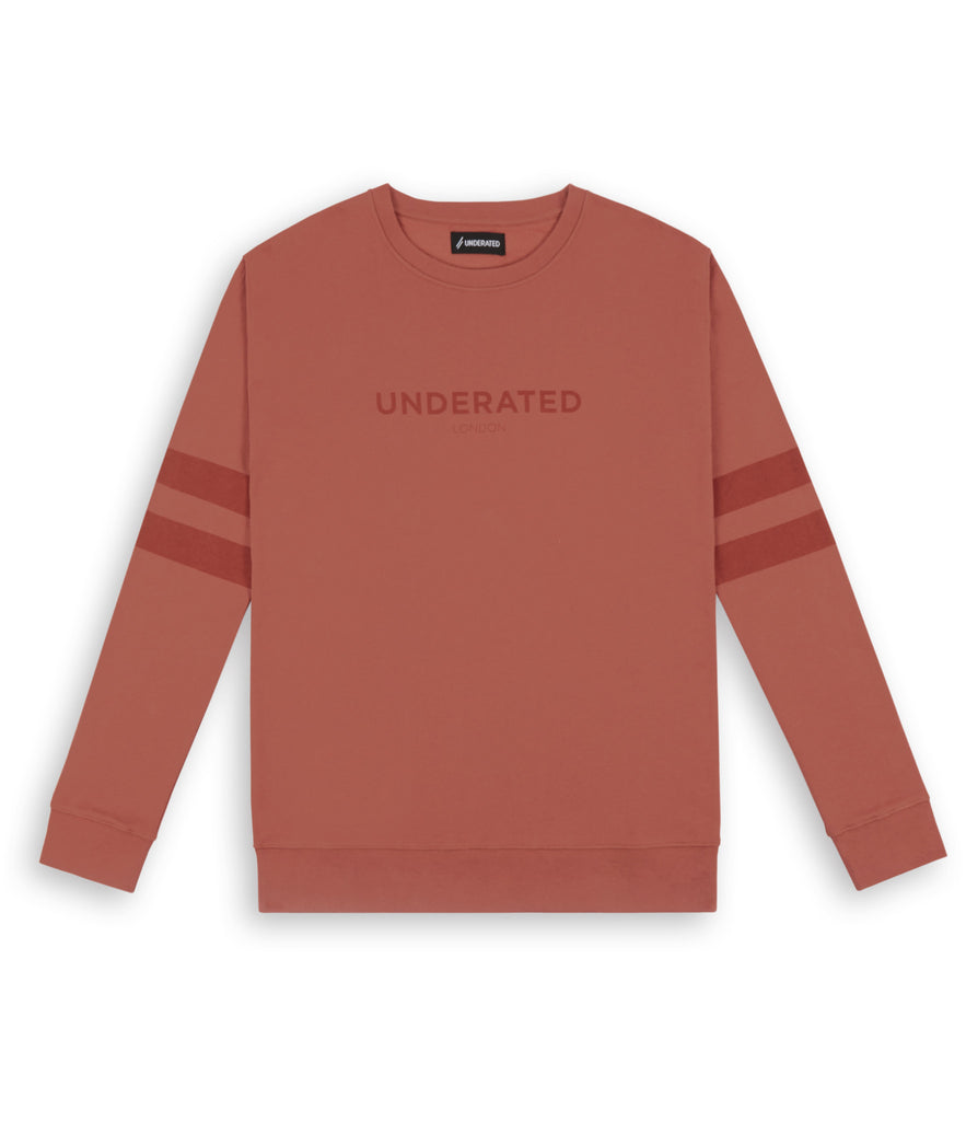 SW400 Tonal Print Sweatshirt - Rust - underated london - underatedco - 2
