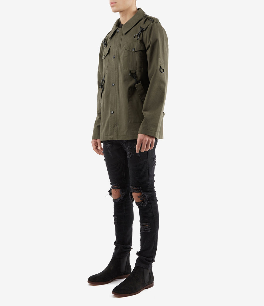 JK356 Utility Strap Jacket - Khaki - underated london - underatedco - 3