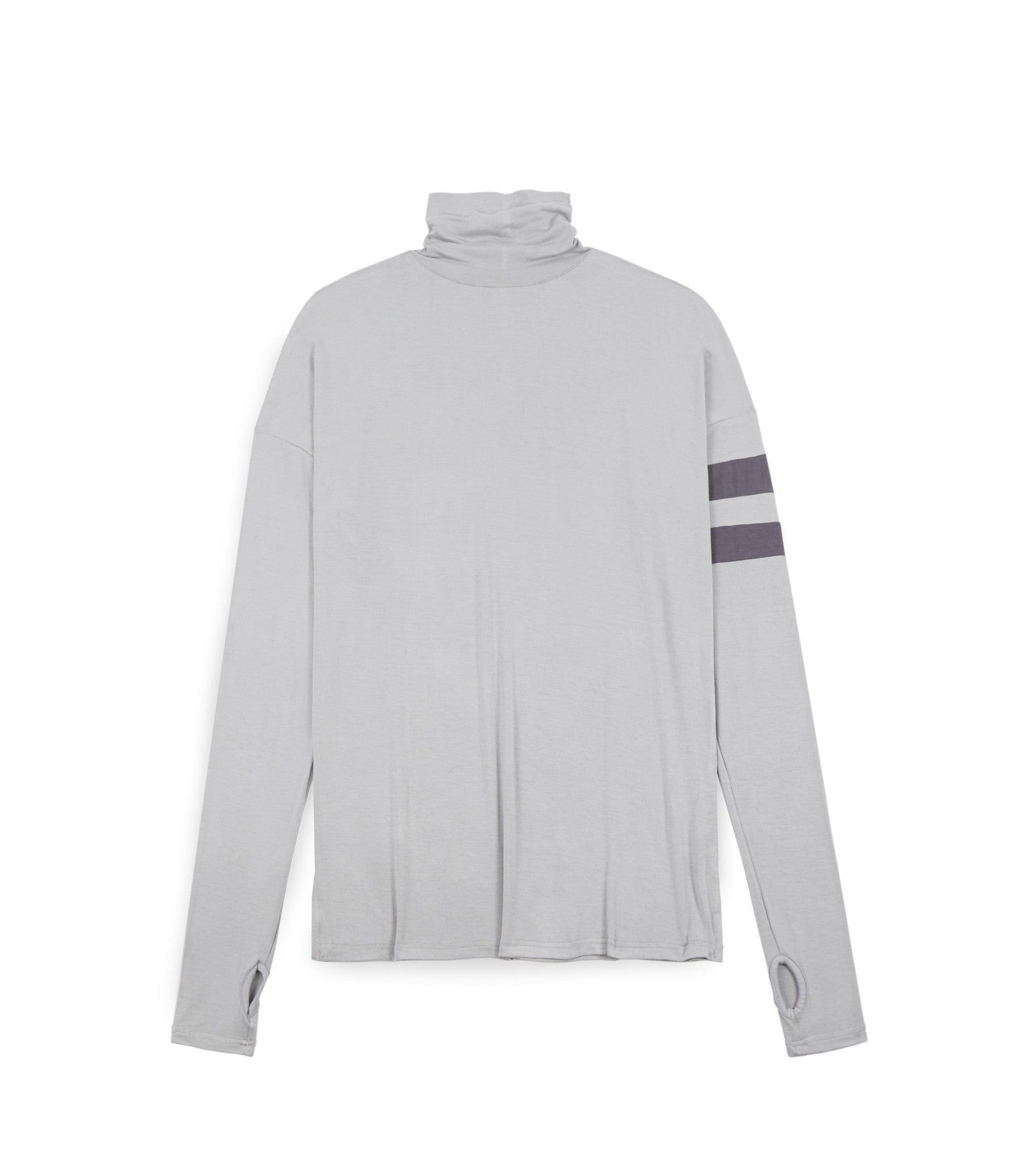LS105 Roll Neck Under Layer L/S Tee - Ash Grey - underated london - underatedco - 1