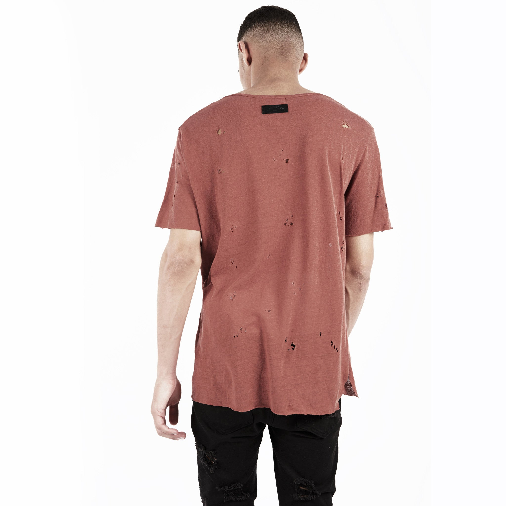 D10V2 Exile Distressed Tee - Rust - underated london - underatedco - 4
