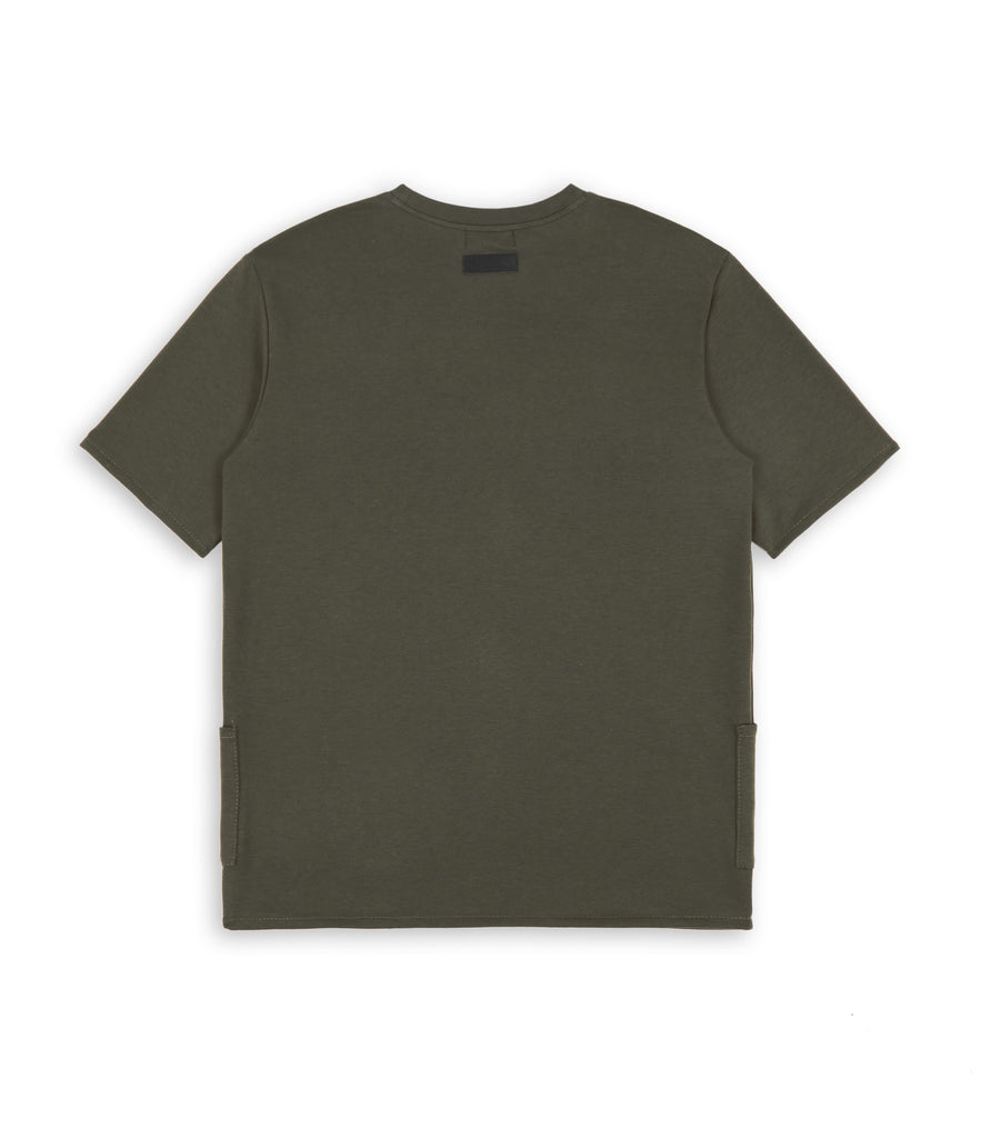 TS346 Side Pocket Tee - Khaki - underated london - underatedco - 2