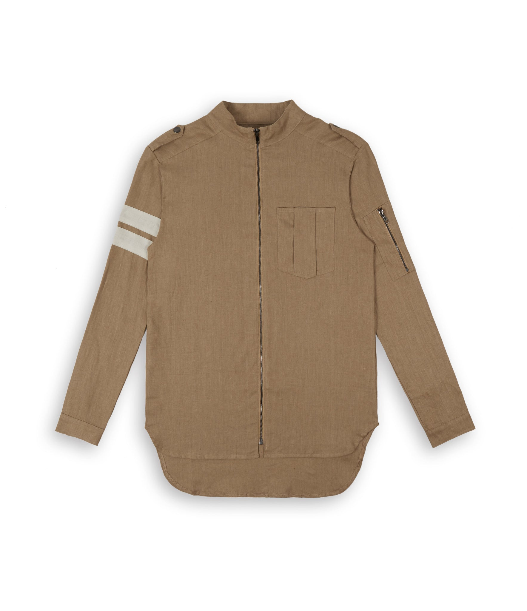 SH273 Exile Military Shirt - Tan - underated london - underatedco - 1