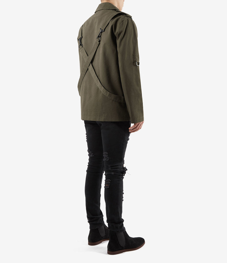 JK356 Utility Strap Jacket - Khaki - underated london - underatedco - 4