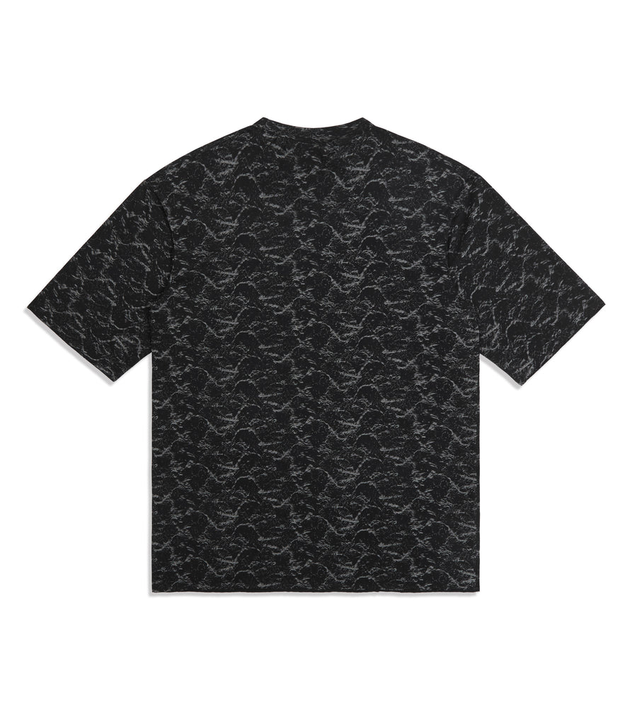 underated textured pattern t-shirt - black