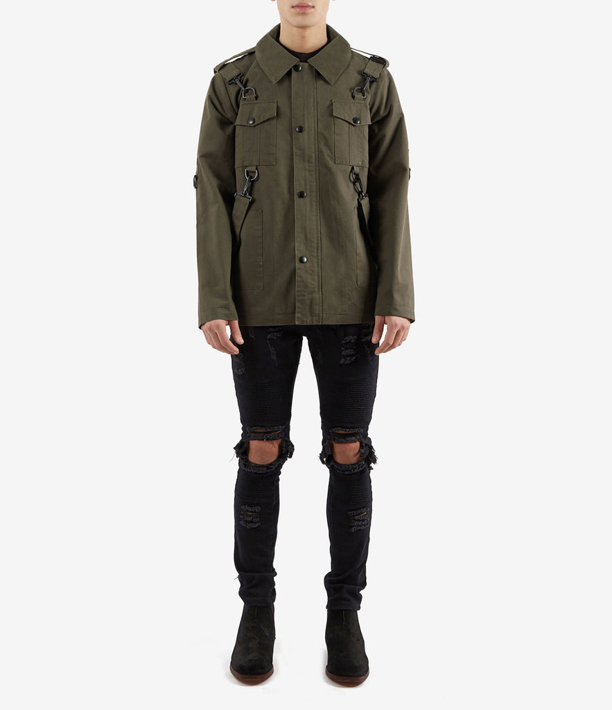 JK356 Utility Strap Jacket - Khaki - underated london - underatedco - 2