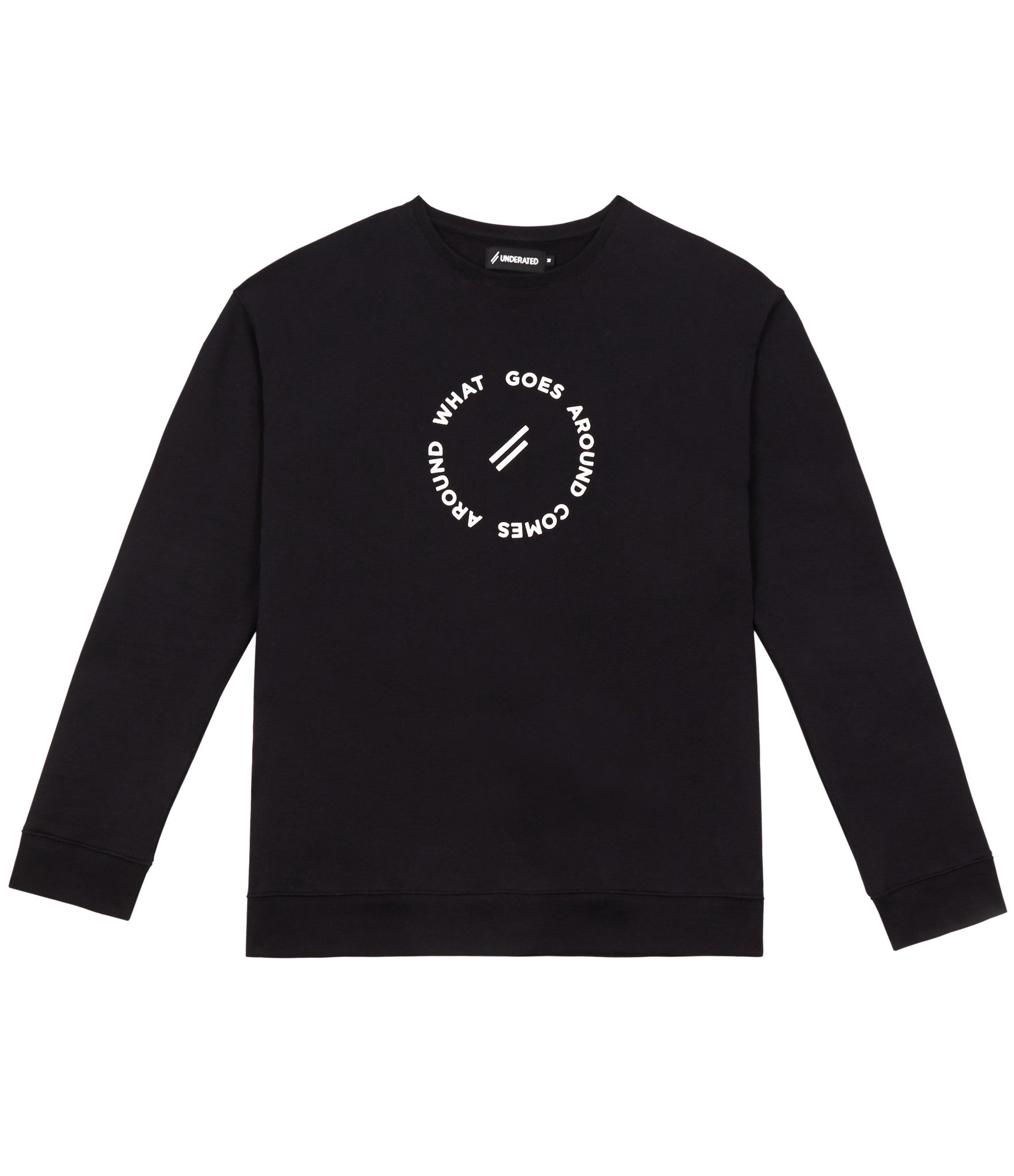 SW315 Circle Logo Printed Sweatshirt - Black - underated london - underatedco - 1