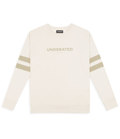 SW400 Tonal Print Sweatshirt - Beige - underated london - underatedco - 1