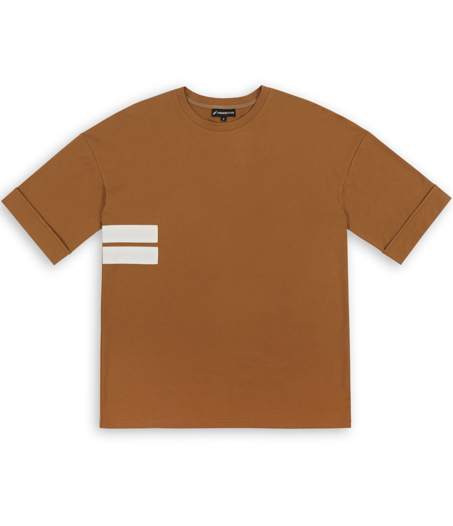 TS271 Oversized Tee - Cognac - underated london - underatedco - 2