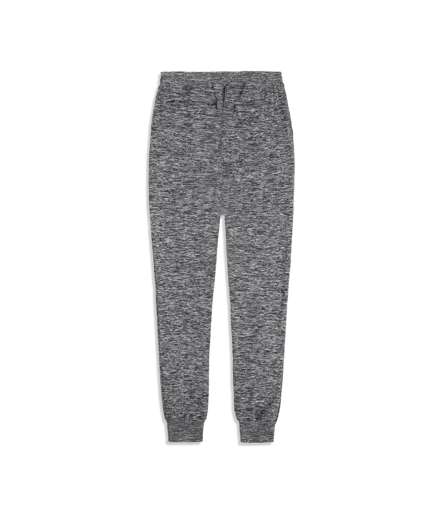 TR425 Drop Crotch Tapered Leg Joggers - Black Marl - UNDERATED