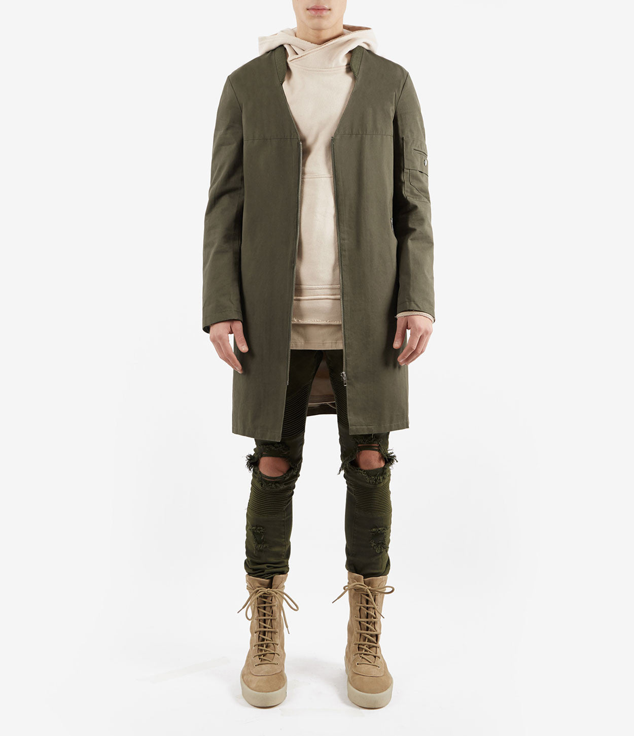 CT338 Utility Messenger Jacket - Khaki - underated london - underatedco - 2