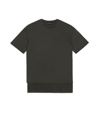 TS362 Hi-Low Oversized Tee - Khaki - underated london - underatedco - 1