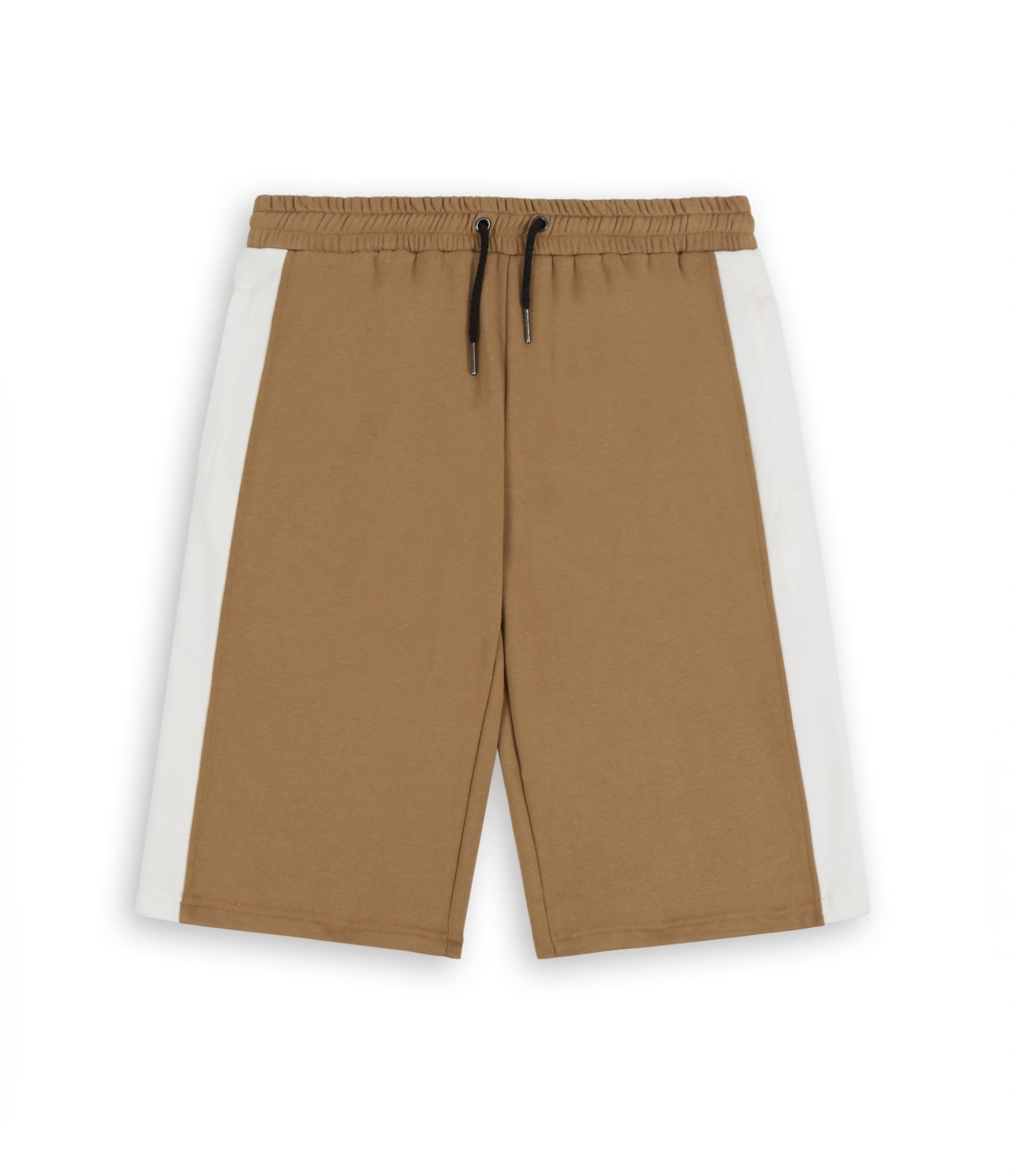SR214 Stripe Shorts - Tan - underated london - underatedco - 1