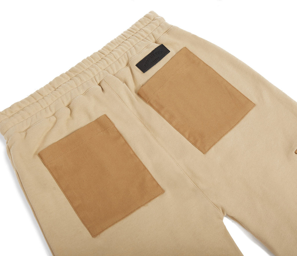 JN381 Utility Cargo Joggers - Beige - underated london - underatedco - 6
