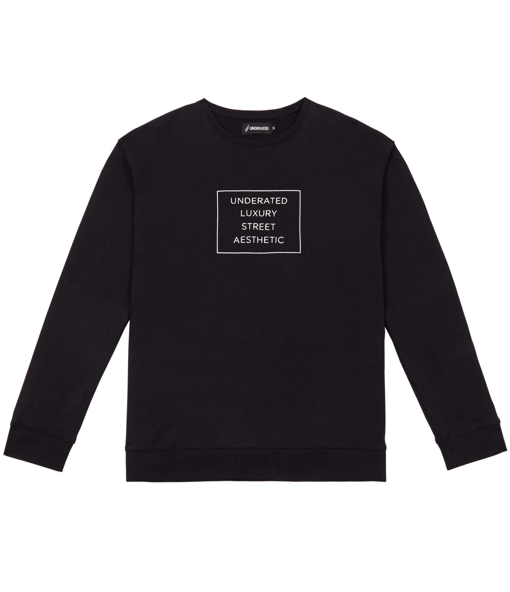 SW314 Box Logo Printed Sweatshirt - Black - underated london - underatedco - 1