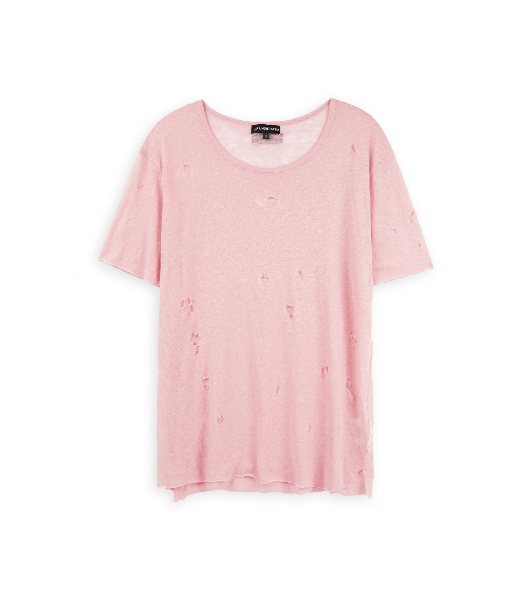 D10V2 Exile Distressed Tee - Pink - underated london - underatedco - 2