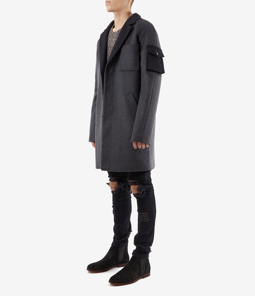 CT369 Utility Wool Overcoat - Charcoal - underated london - underatedco - 3