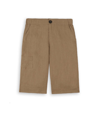SR282 Exile Linen Shorts - Tan - underated london - underatedco - 1
