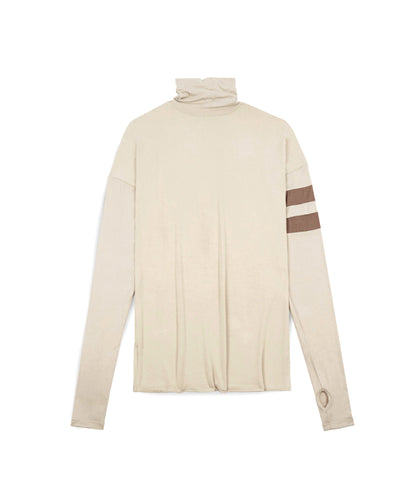 LS105 Roll Neck Under Layer L/S Tee - Nude - UNDERATED