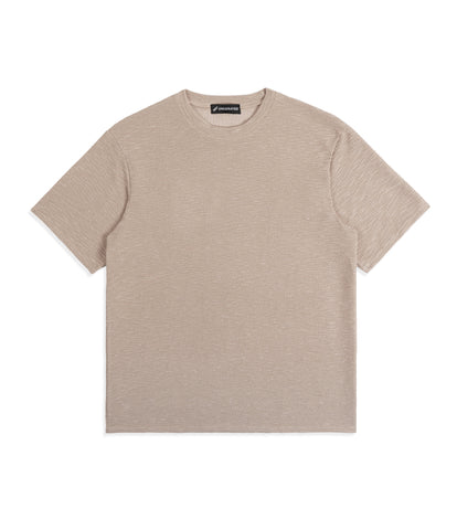 TS421 Oversized Tee - Beige Knit - UNDERATED