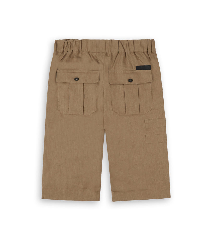 SR282 Exile Linen Shorts - Tan - underated london - underatedco - 3