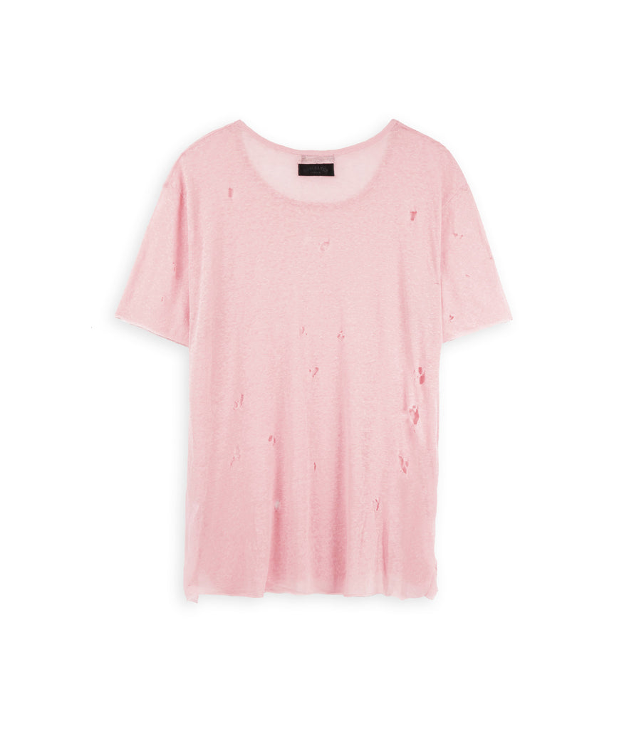 D10V2 Exile Distressed Tee - Pink - underated london - underatedco - 3