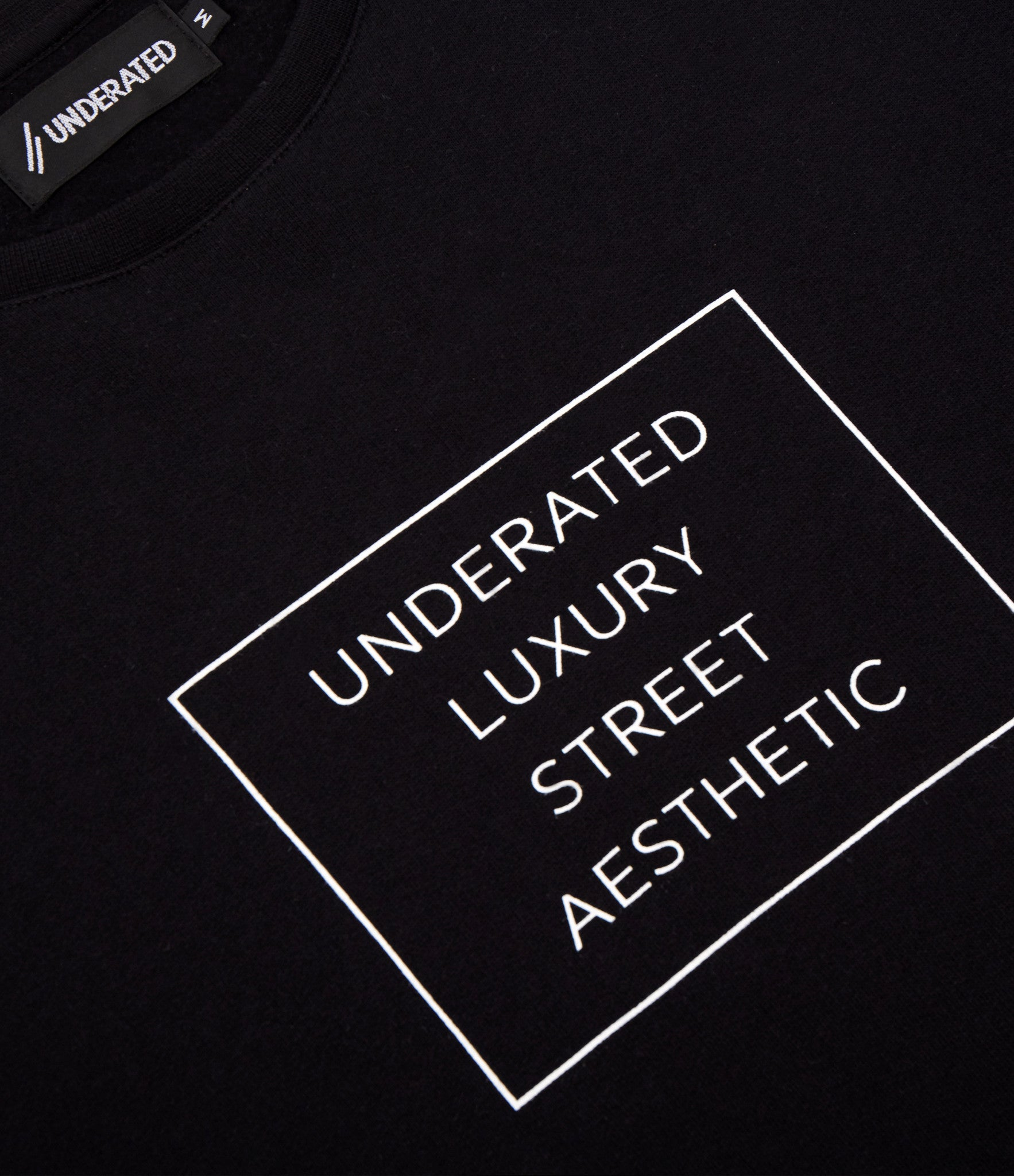 SW314 Box Logo Printed Sweatshirt - Black - underated london - underatedco - 2