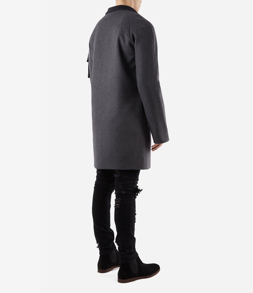CT369 Utility Wool Overcoat - Charcoal - underated london - underatedco - 4