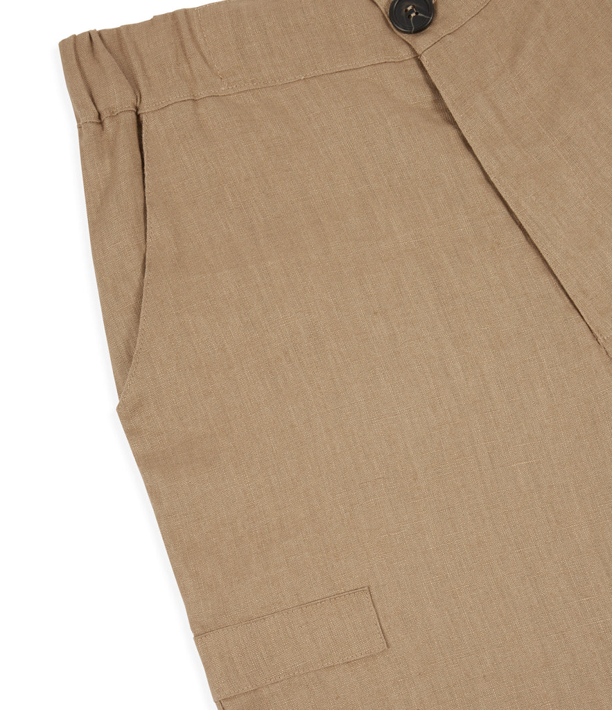 SR282 Exile Linen Shorts - Tan - underated london - underatedco - 4