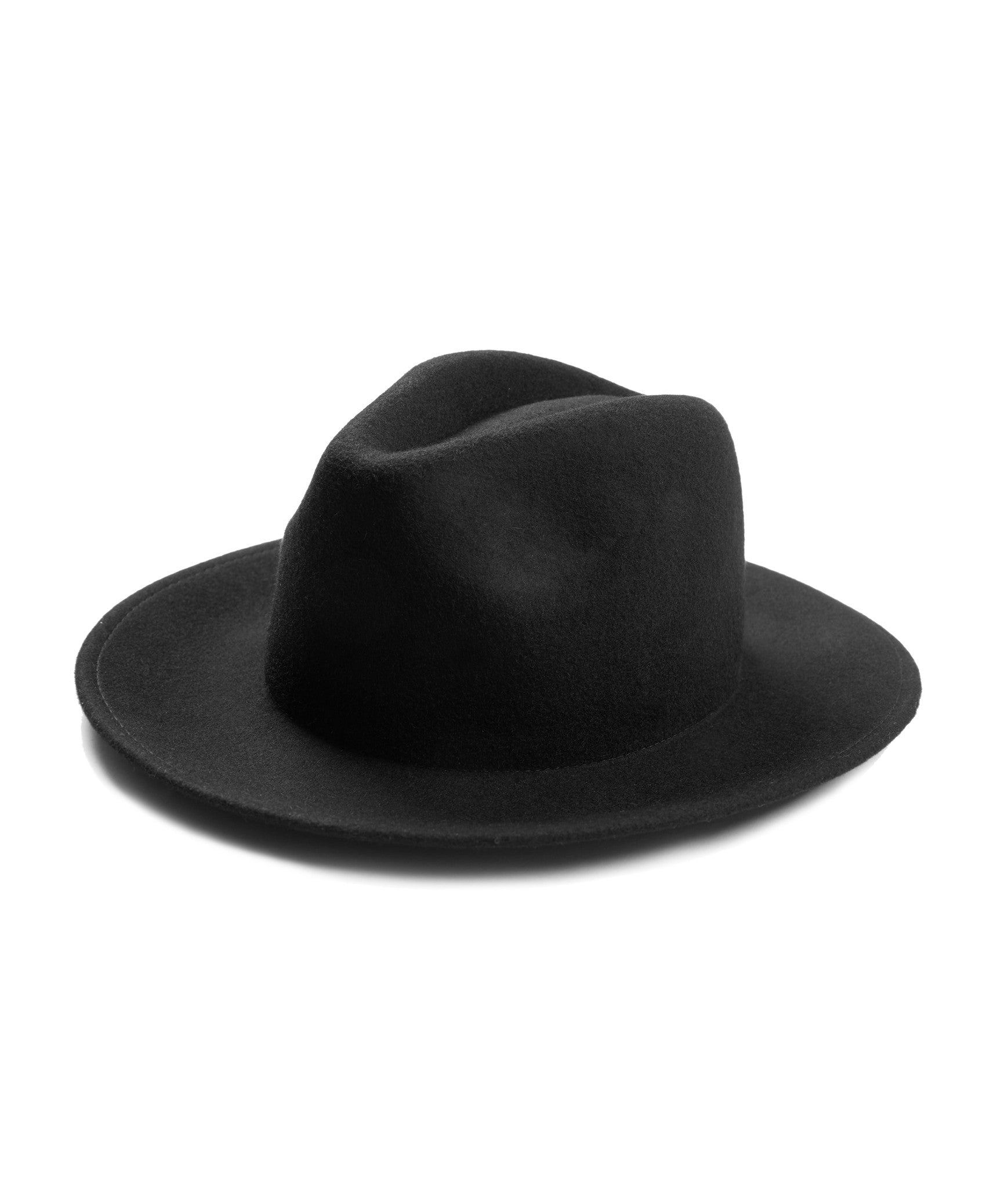 Dillinger Fedora Hat - Black - underated london - underatedco - 2