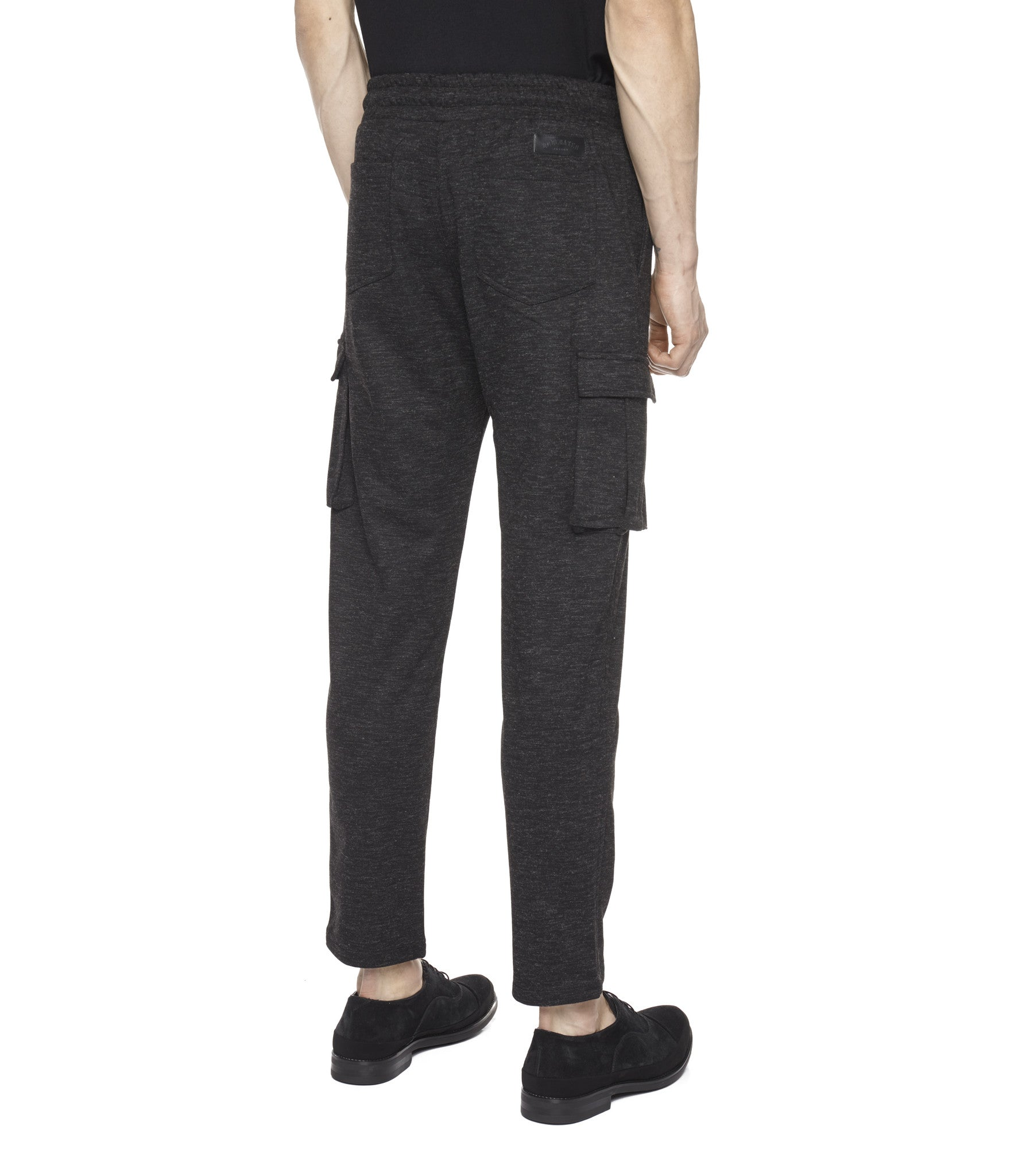 TR253 Wool Blend Cropped Cargo Pants - Black - underated london - underatedco - 5