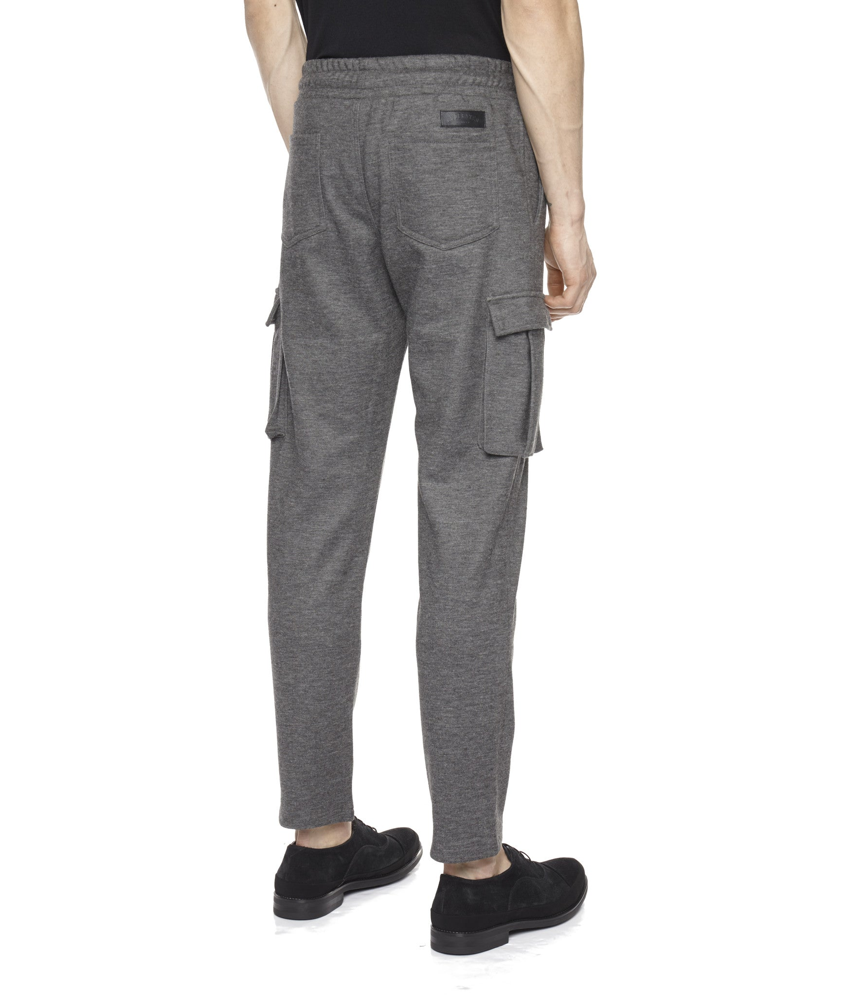 TR253 Wool Blend Cropped Cargo Pants - Charcoal - underated london - underatedco - 5