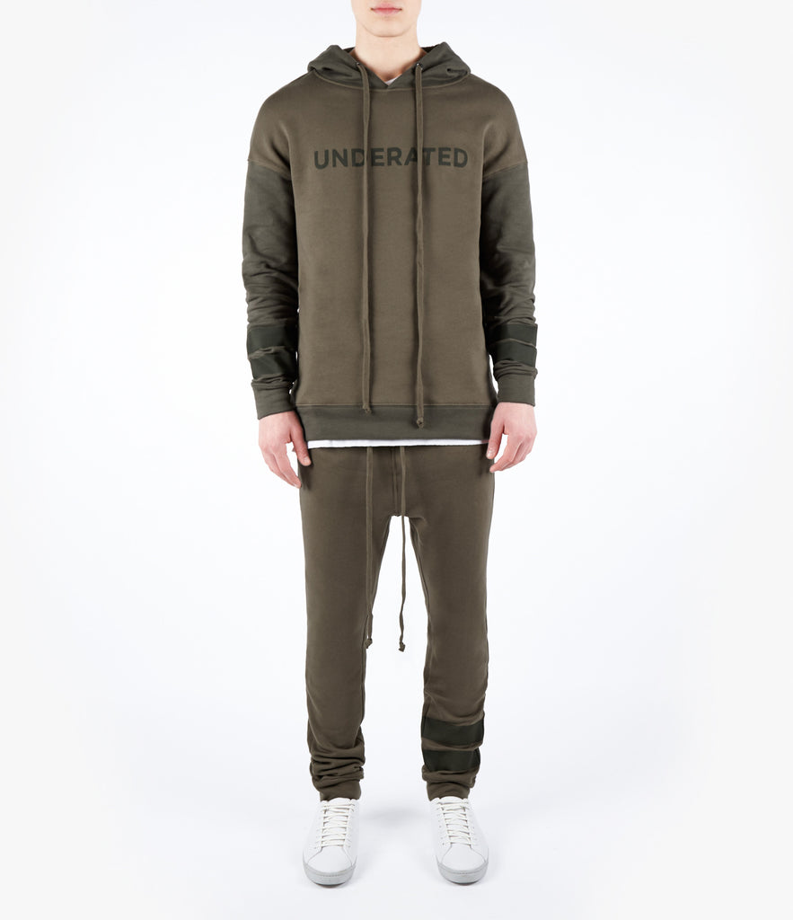 HD457 Oversized Two Tone Essential Hoody - Khaki