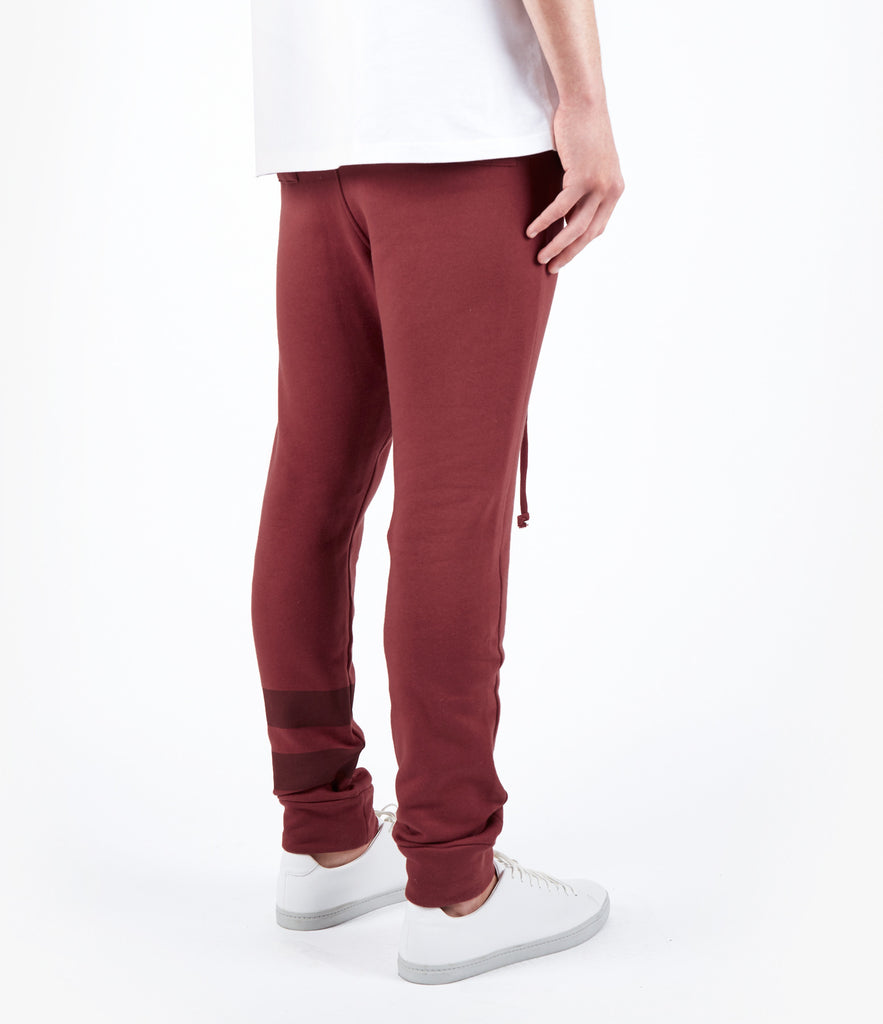TR483 Essential Drop Crotch Joggers - Oxblood - UNDERATED