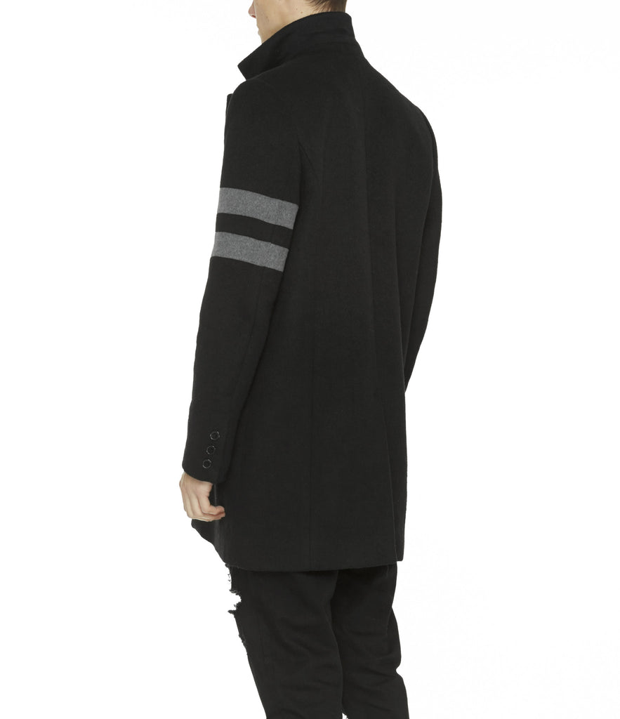 JK211 Wool Blend Overcoat - Black - UNDERATED