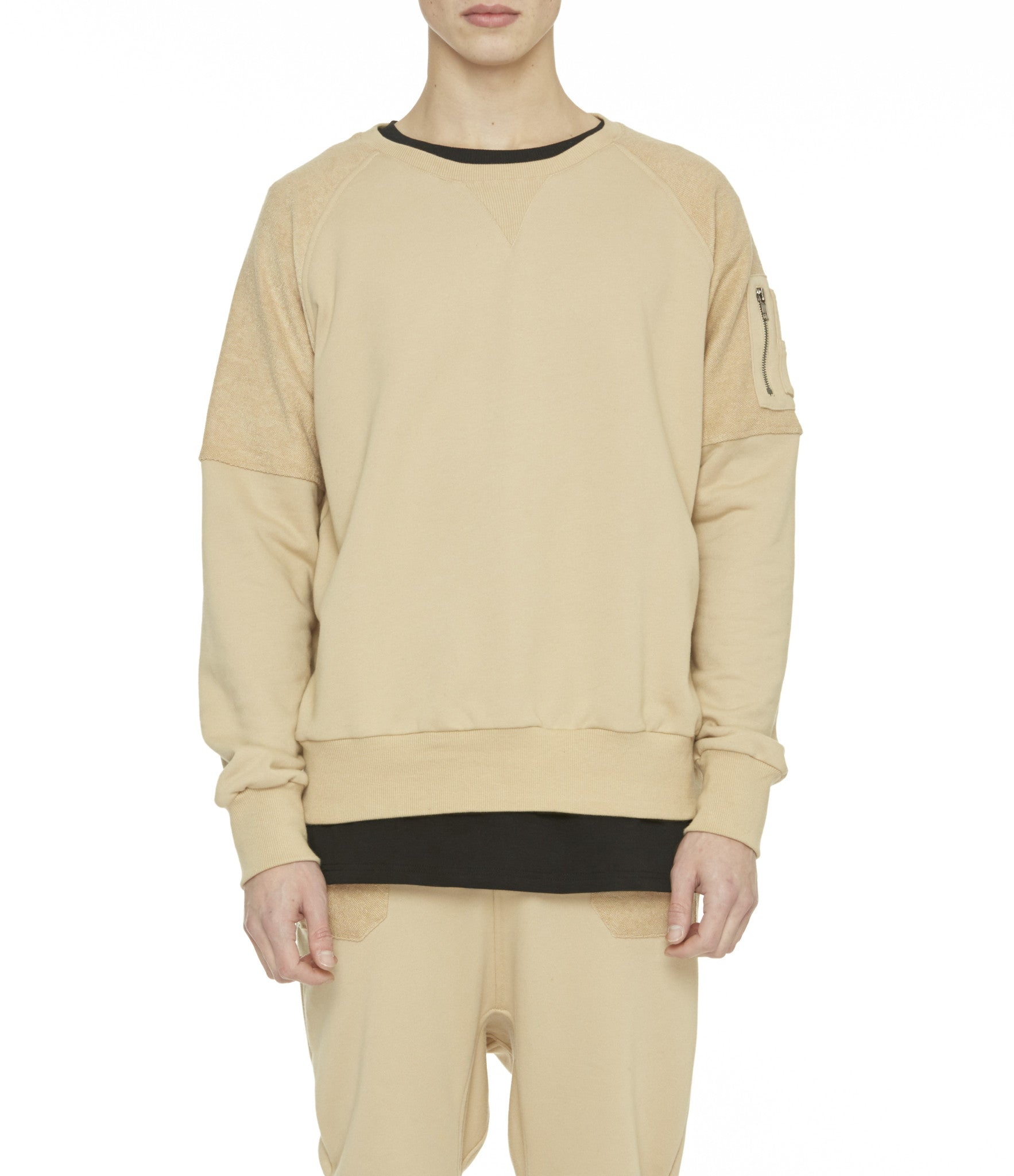 SW229 Oversized Utility Sweatshirt - Beige - underated london - underatedco - 4