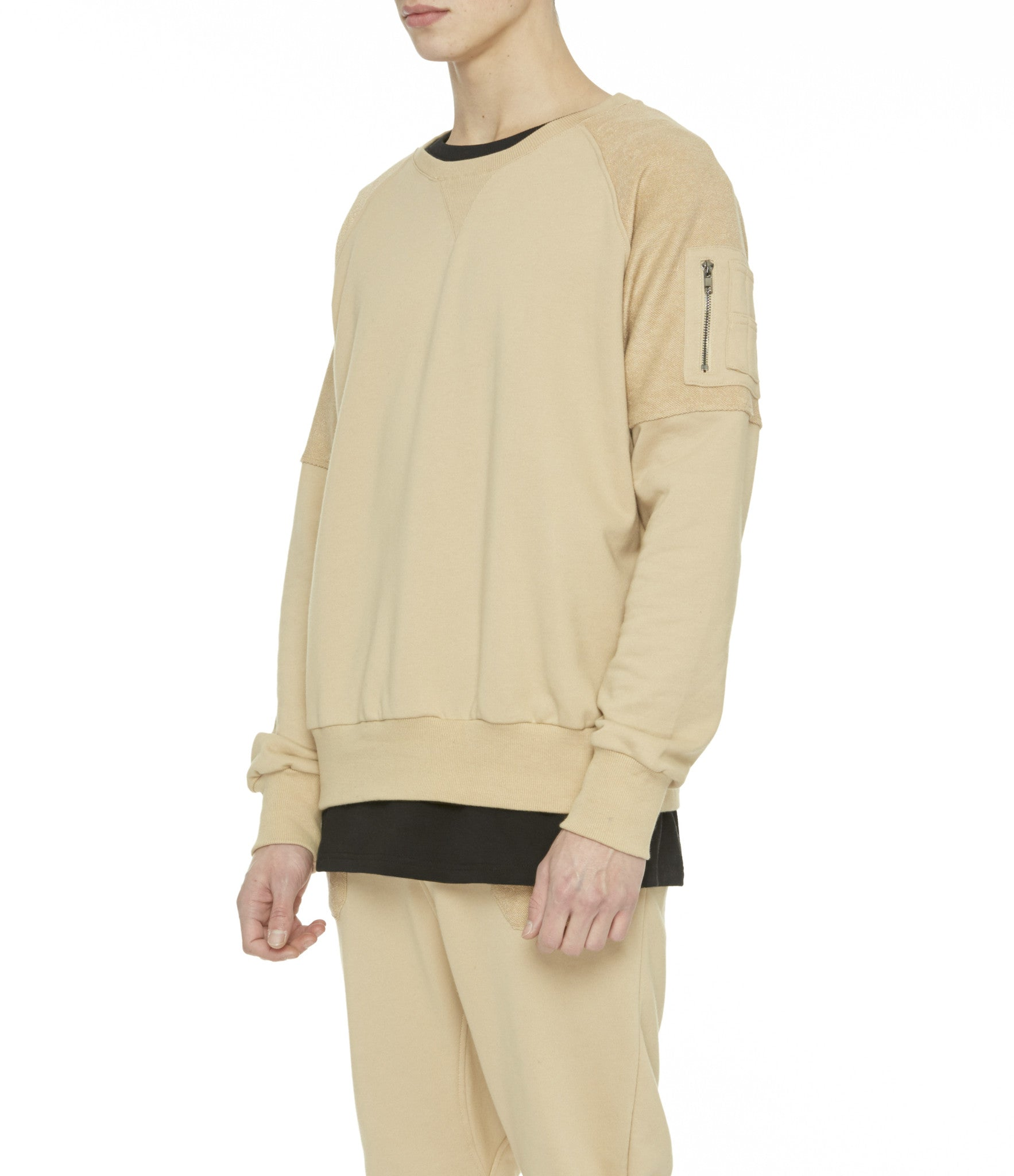 SW229 Oversized Utility Sweatshirt - Beige - underated london - underatedco - 5