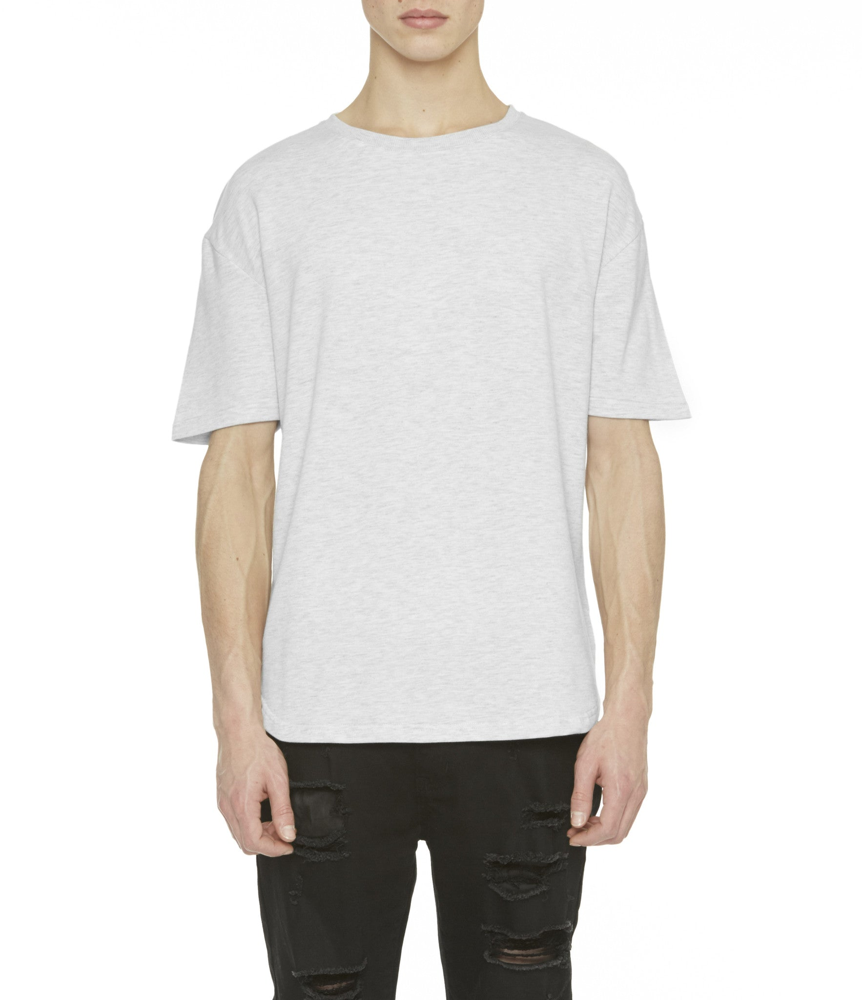TS263 Drop Shoulder Oversized Tee - Heather Grey - underated london - underatedco - 5