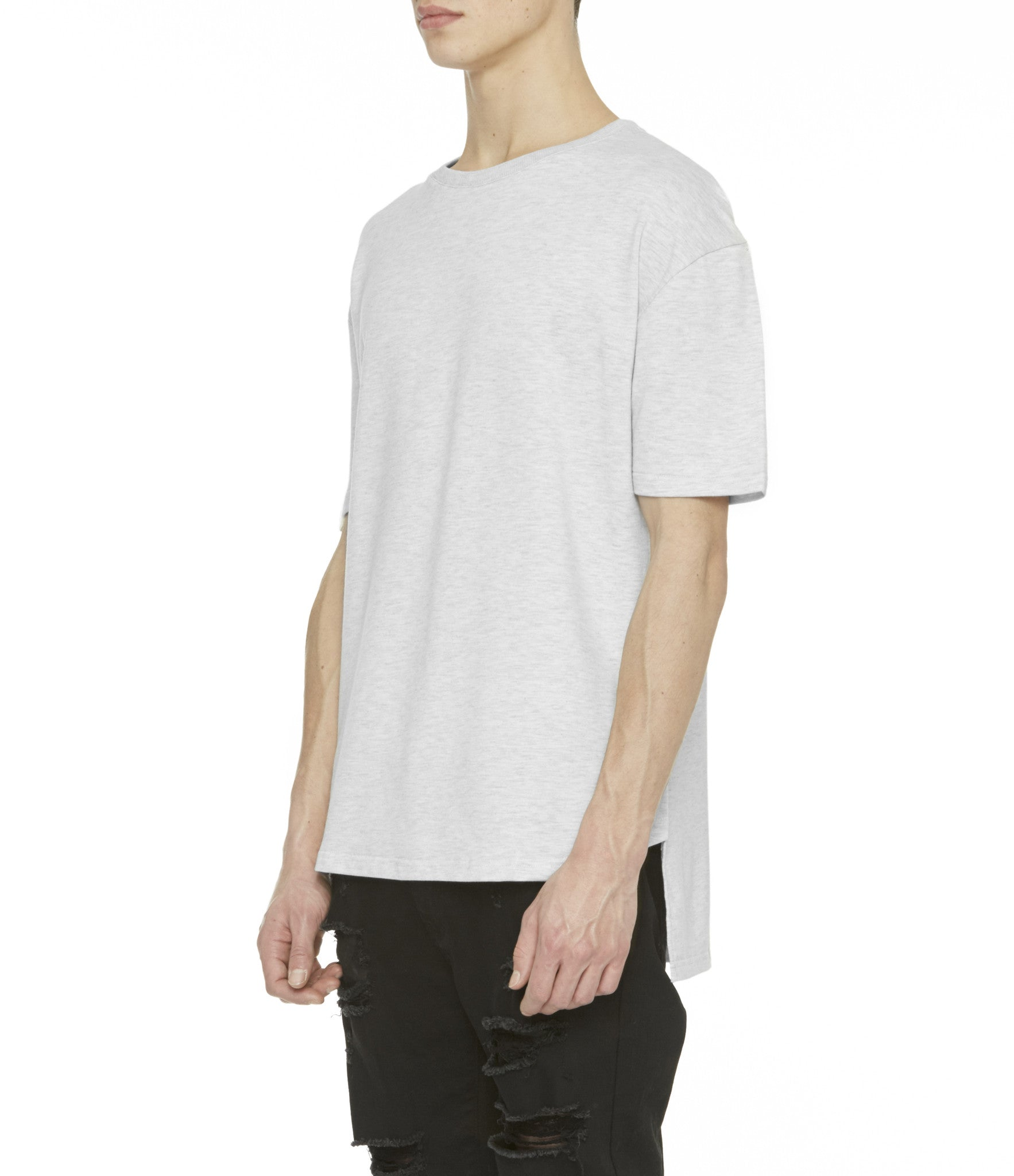 TS263 Drop Shoulder Oversized Tee - Heather Grey - underated london - underatedco - 6