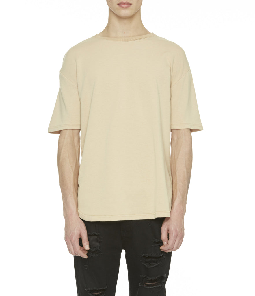 TS263 Drop Shoulder Oversized Tee - Beige - underated london - underatedco - 4