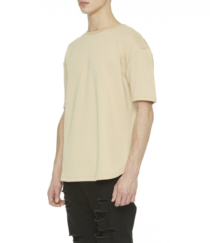 TS263 Drop Shoulder Oversized Tee - Beige - underated london - underatedco - 5