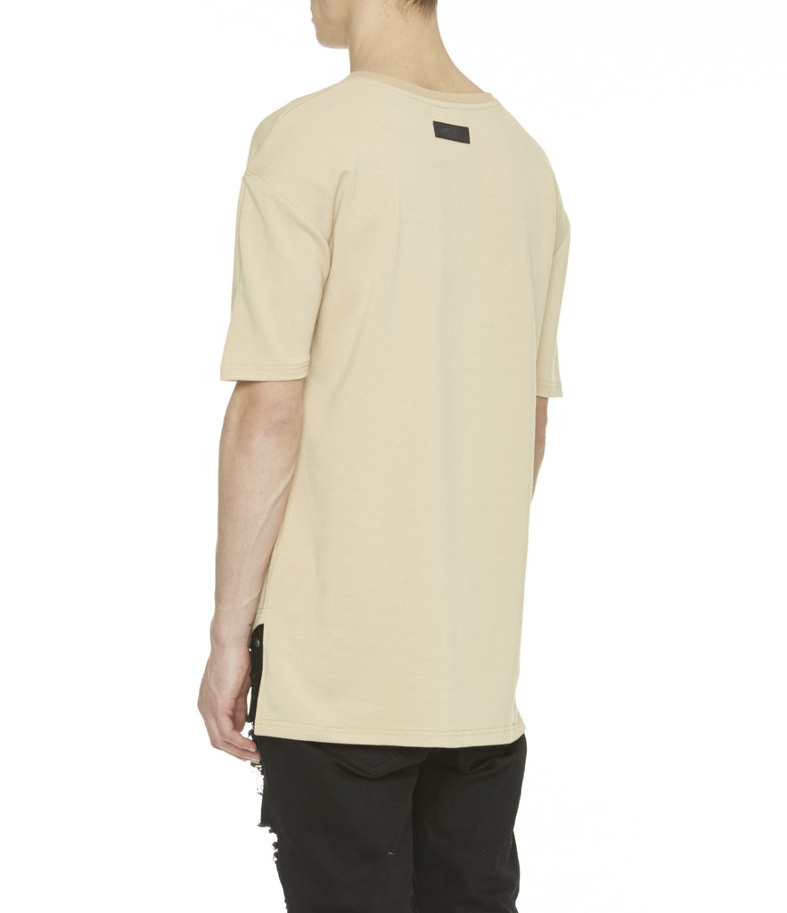 TS263 Drop Shoulder Oversized Tee - Beige - underated london - underatedco - 6