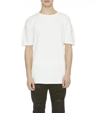TS222 Drop Shoulder Utility Tee - Off White - underated london - underatedco - 1