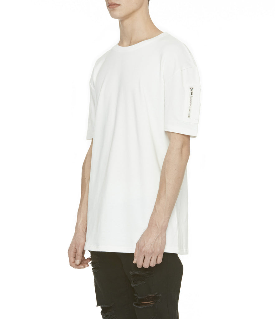 TS222 Drop Shoulder Utility Tee - Off White - underated london - underatedco - 6
