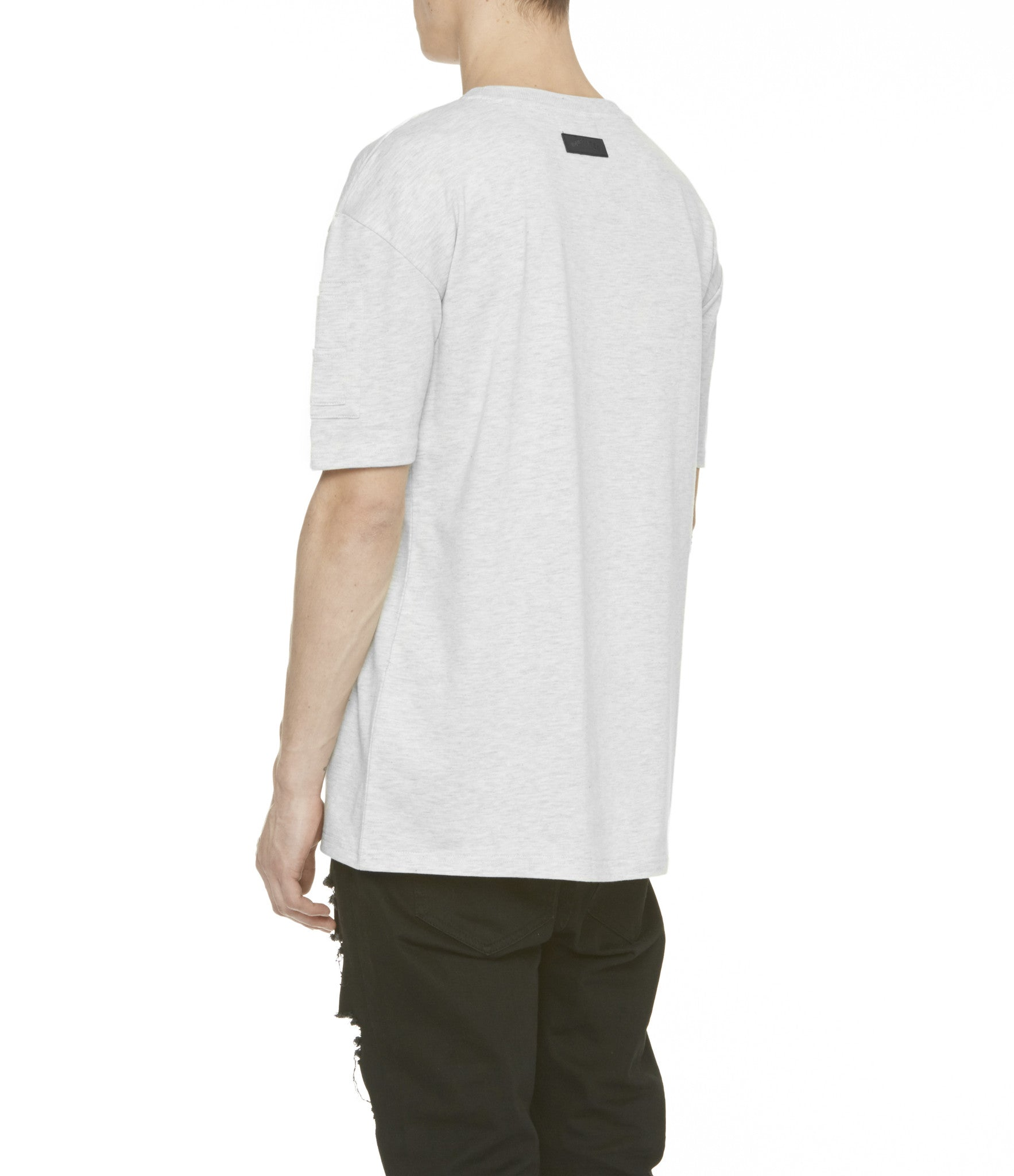 TS222 Drop Shoulder Utility Tee - Heather Grey - underated london - underatedco - 8