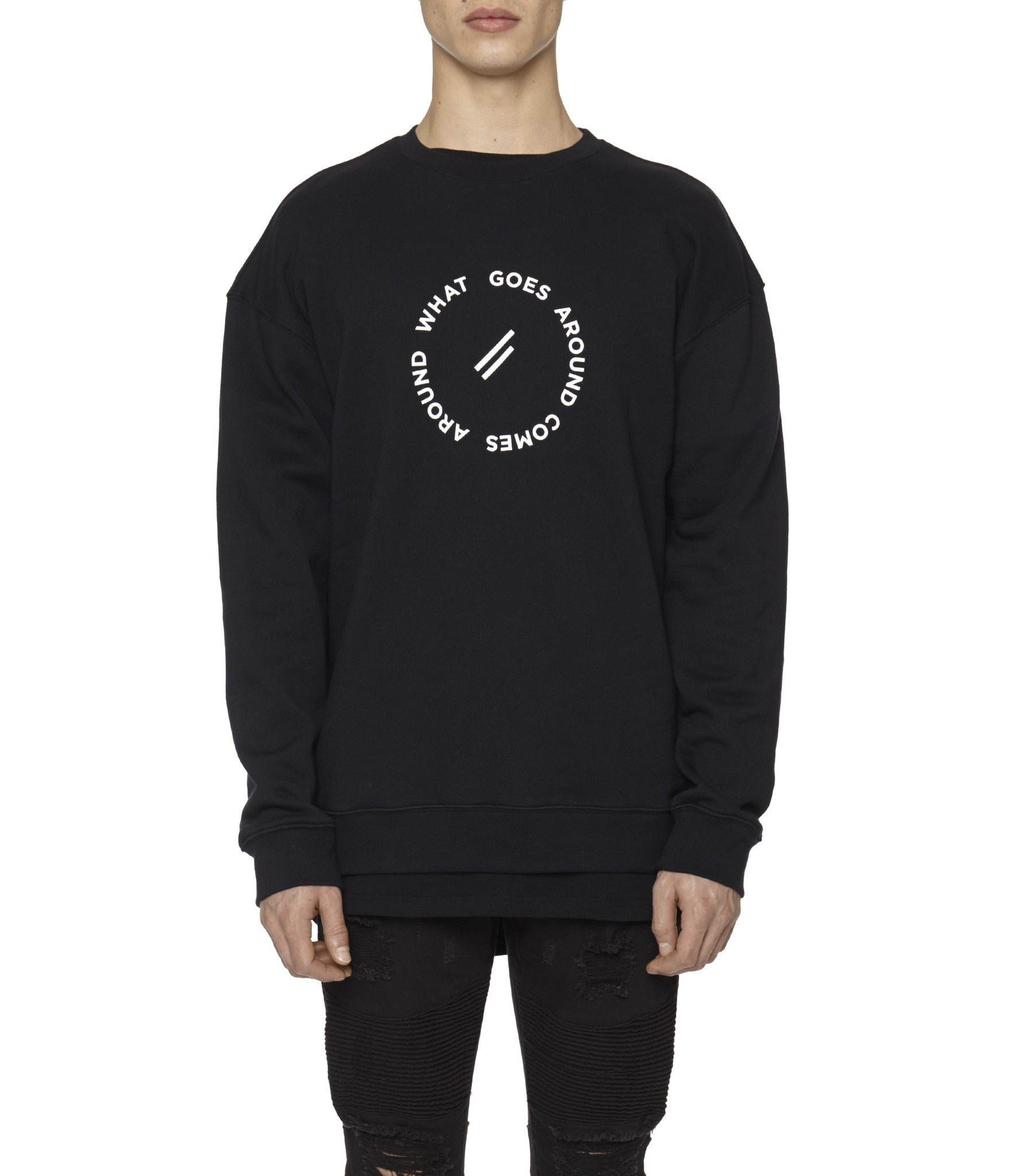 SW315 Circle Logo Printed Sweatshirt - Black - underated london - underatedco - 4