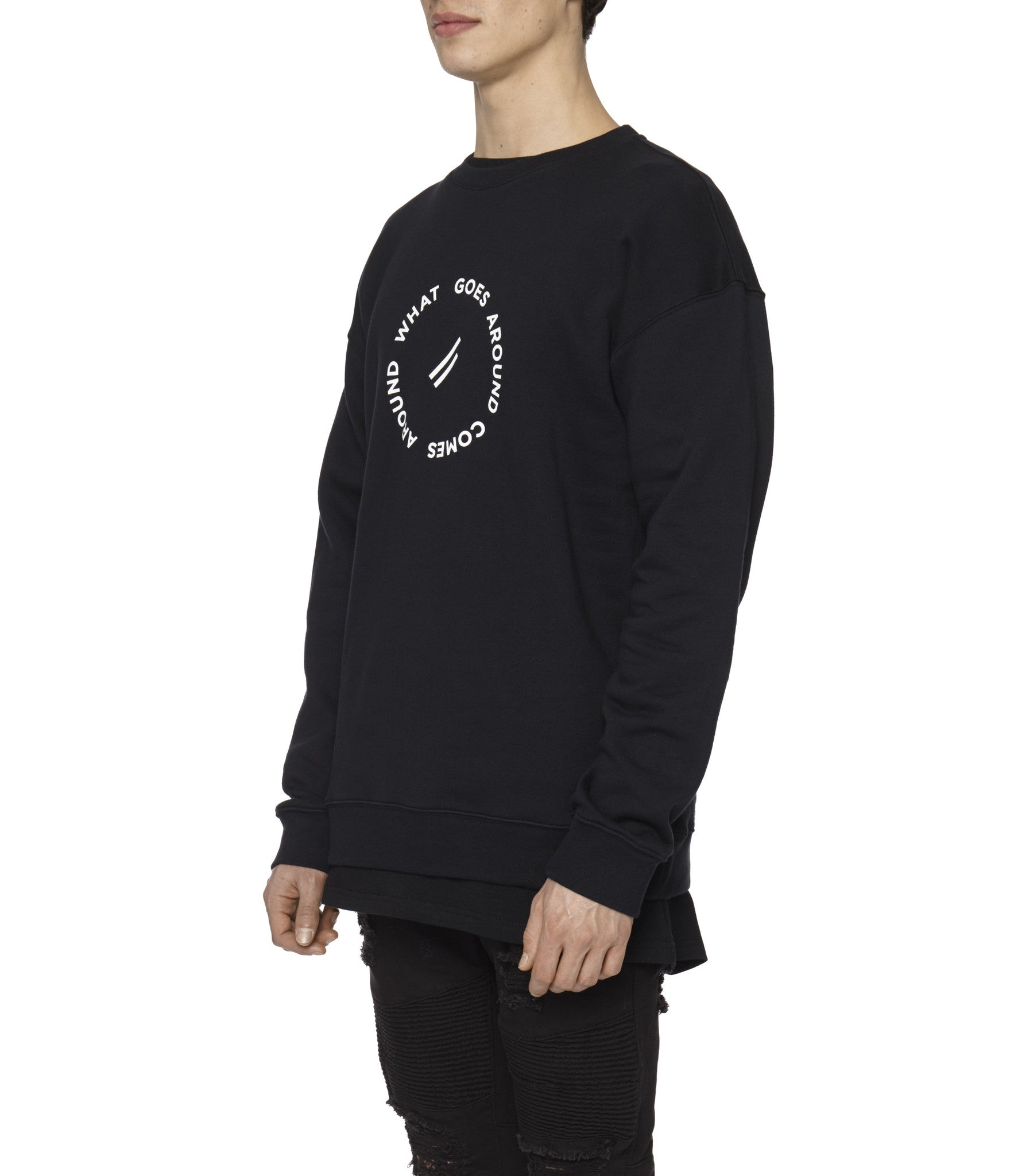 SW315 Circle Logo Printed Sweatshirt - Black - underated london - underatedco - 5